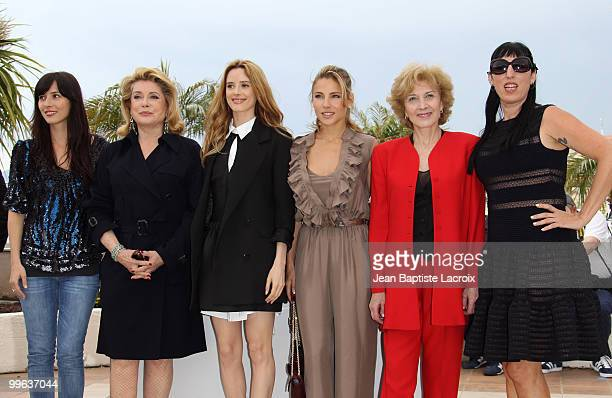 Barbara Goenaga Catherine Deneuve Pilar Lopez de Ayala Elsa Pataky Marisa Paredes and Rossy de Palma attends the 'Homage to Spanish Cinema' Photocall...
