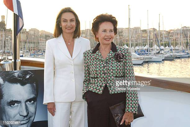 Barbara Grant Jaynes and Leslie Caron during 2004 Cannes Film Festival amFAR DVD Release After Party at The Big Eagle Yacht Port de Cannes in Cannes...
