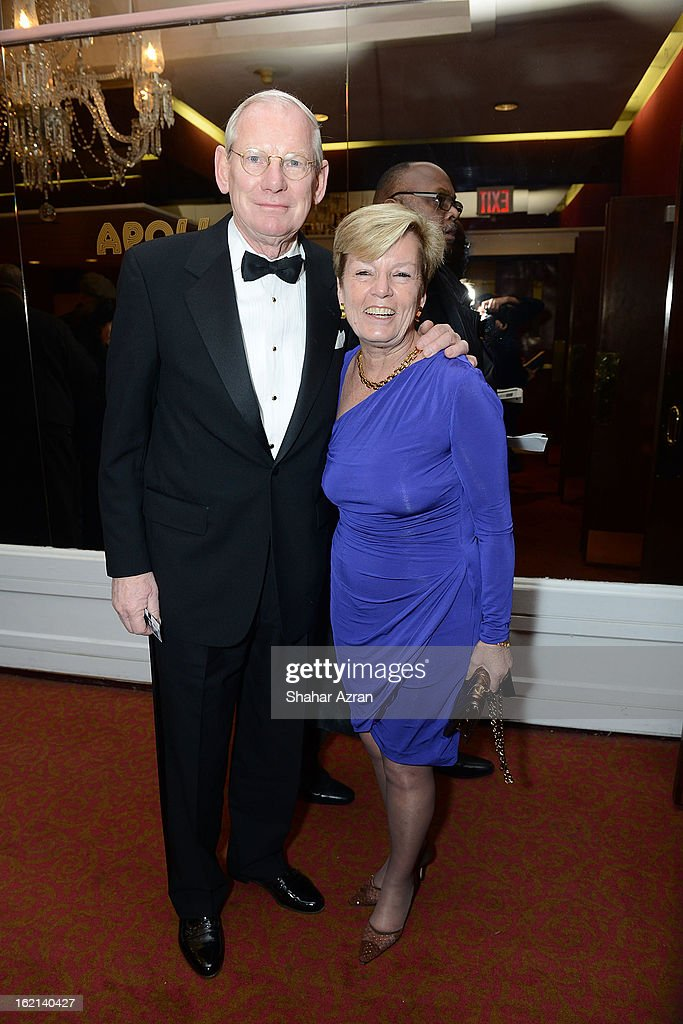 Barbara Groves and a guest attend Apollo Club Harlem at The Apollo Theater on February 18, 2013 in New York City.