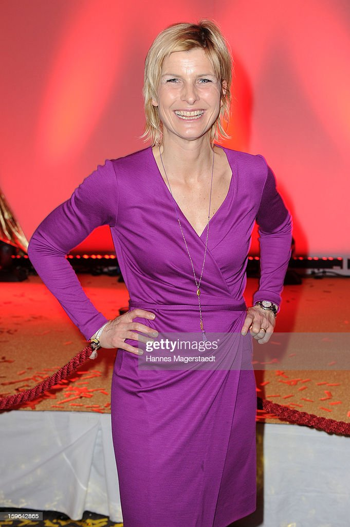 Barbara Hahlweg attends the Sat.1 GOLD TV Channel Launch at the Filmcasino on January 17, 2013 in Munich, Germany.
