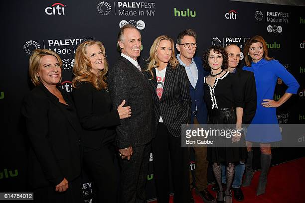 Barbara Hall Lori McCreary Keith Carradine Tea Leoni Tim Daly Bebe Neuwirth Zeljko Ivanek and Norah O'Donnell attend a sreening of 'Madam Secretary'...