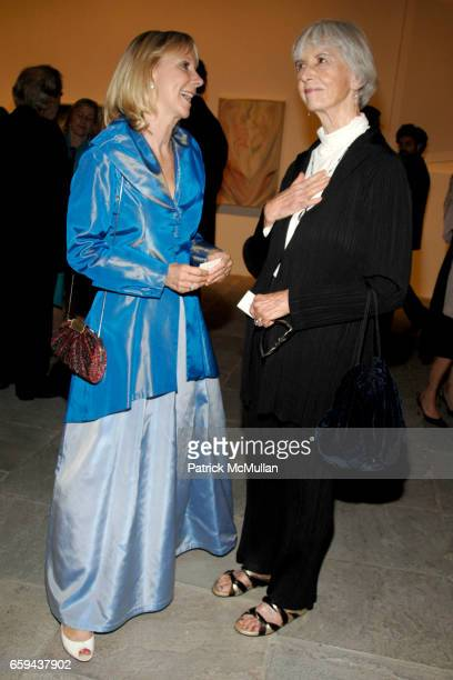 Barbara Haskell and Flora Biddle attend GEORGIA O'KEEFFE 'ABSTRACTION' Opening Reception and Dinner at The Whitney Museum on September 16 2009 in New...
