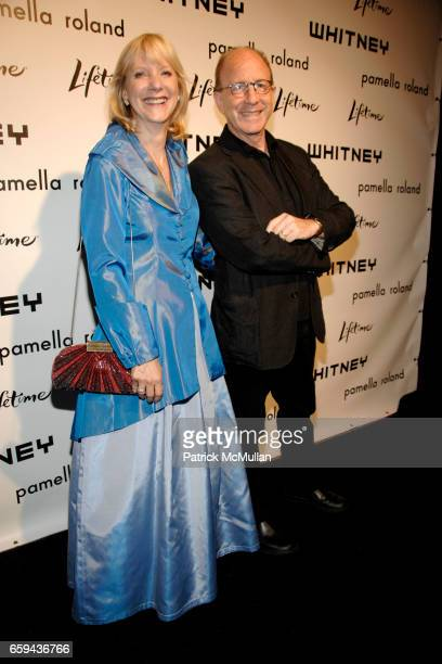 Barbara Haskell and Jerry Saltz attend GEORGIA O'KEEFFE 'ABSTRACTION' Opening Reception and Dinner at The Whitney Museum on September 16 2009 in New...