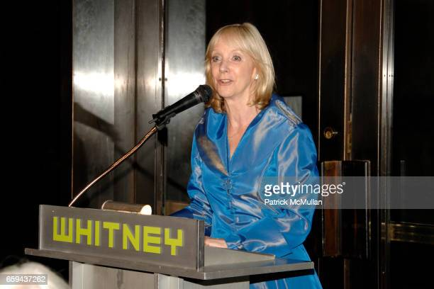 Barbara Haskell attends GEORGIA O'KEEFFE 'ABSTRACTION' Opening Reception and Dinner at The Whitney Museum on September 16 2009 in New York
