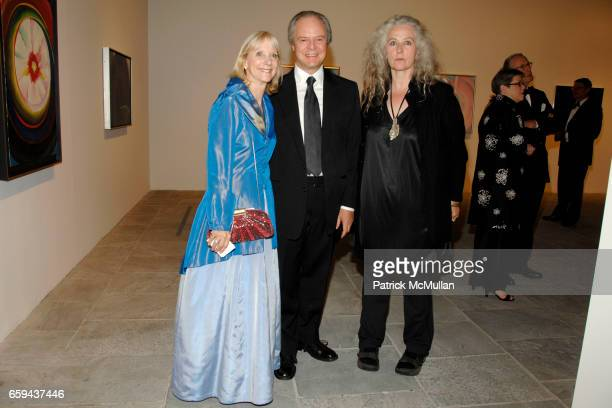 Barbara Haskell guest and Kiki Smith attend GEORGIA O'KEEFFE 'ABSTRACTION' Opening Reception and Dinner at The Whitney Museum on September 16 2009 in...