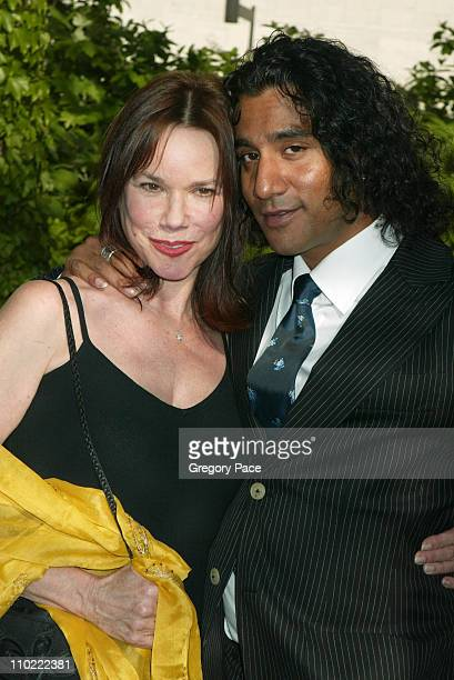 Barbara Hershey and Naveen Andrews of 'Lost' during 2005/2006 ABC UpFronts at Lincoln Center in New York City New York United States