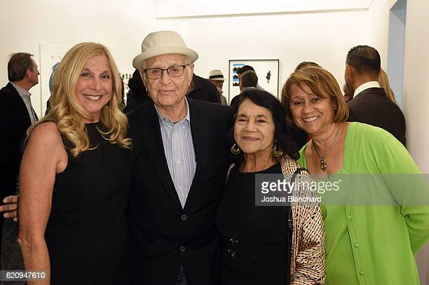 Barbara Jacobs Norman Lear Dolores Huerta and Cookie Parker attend Get Out The Vote Celebration for People For The American Way on November 3 2016 in...