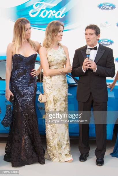 Barbara Kimpel Nicole Kimpel and Antonio Banderas attend Starlite Gala on August 13 2017 in Marbella Spain