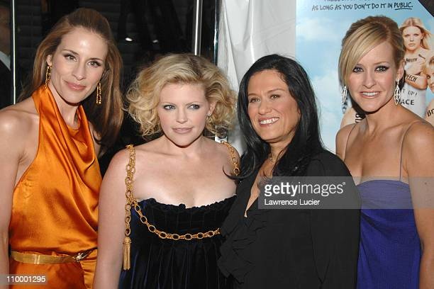 Barbara Kopple director of Shut Up Sing with Emily Robison Natalie Maines and Martie Maguire of the Dixie Chicks
