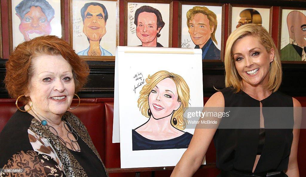 Barbara Krajkowski and daughter Jane Krakowski attend the Jane Krakowski Sardi's portrait unveiling at Sardi's on May 31, 2016 in New York City.