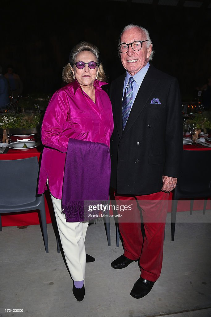 Barbara Lee Diamondstein and Carl Spielvogel attend the Parrish Art Museum 2013 Midsummer Party on July 13, 2013 in Southampton, United States.