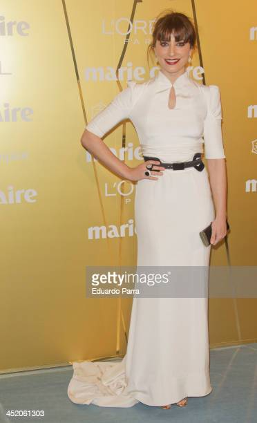 Barbara Lenni attends 'Marie Claire Prix de la moda' awards 2013 photocall at Residence of France on November 21 2013 in Madrid Spain