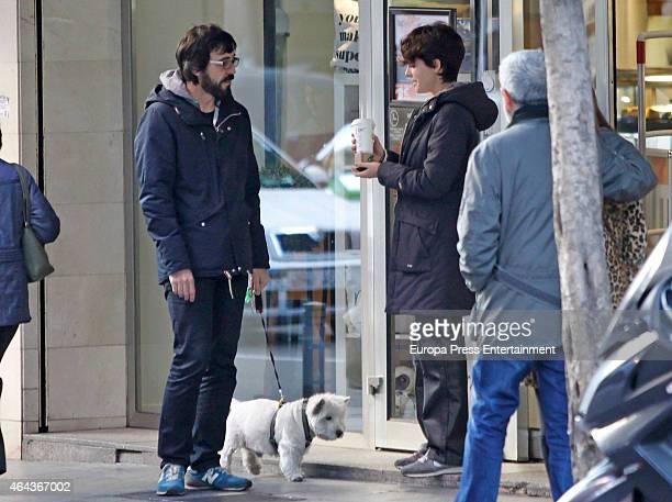Barbara Lennie and Israel Elejalde are seen on February 16 2015 in Madrid Spain