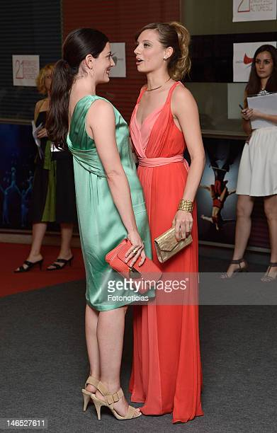 Barbara Lennie and Michelle Jenner attend the XXI Union de Actores Awards ceremony at the Circo Price Theater on June 18 2012 in Madrid Spain