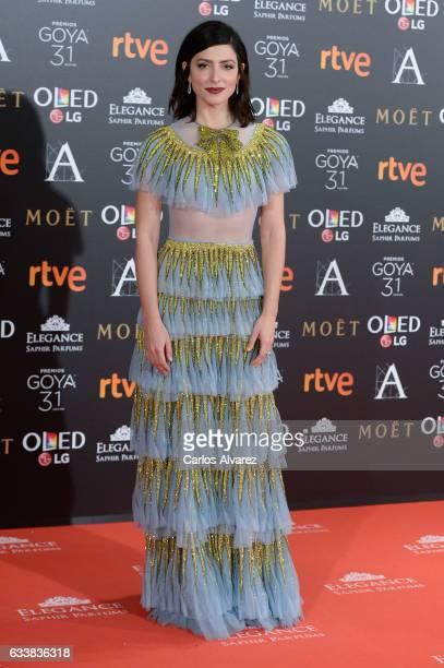 Barbara Lennie attends Goya Cinema Awards 2017 at Madrid Marriott Auditorium on February 4 2017 in Madrid Spain