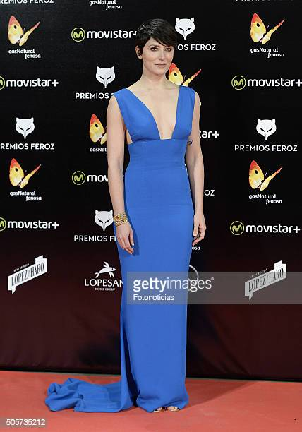 Barbara Lennie attends the 2016 Feroz Cinema Awards at the Gran Teatro Principe Pio on January 19 2016 in Madrid Spain