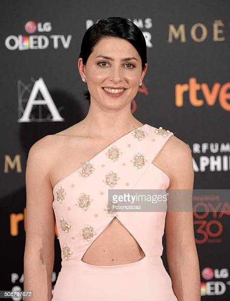Barbara Lennie attends the Goya Cinema Awards 2016 Ceremony at Madrid Marriott Auditorium on February 6 2016 in Madrid Spain