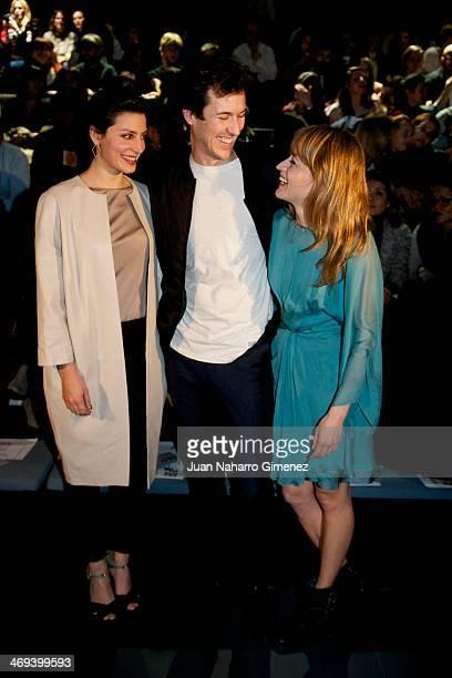 Barbara Lennie Jorge Suquet and Marta Larralde attend Mercedes Benz Fashion Week Madrid W/F 2014 at Ifema on February 14 2014 in Madrid Spain