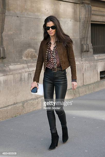 Barbara Martelo wears all Saint Laurent on day 4 of Paris Collections Women on March 06 2015 in Paris France
