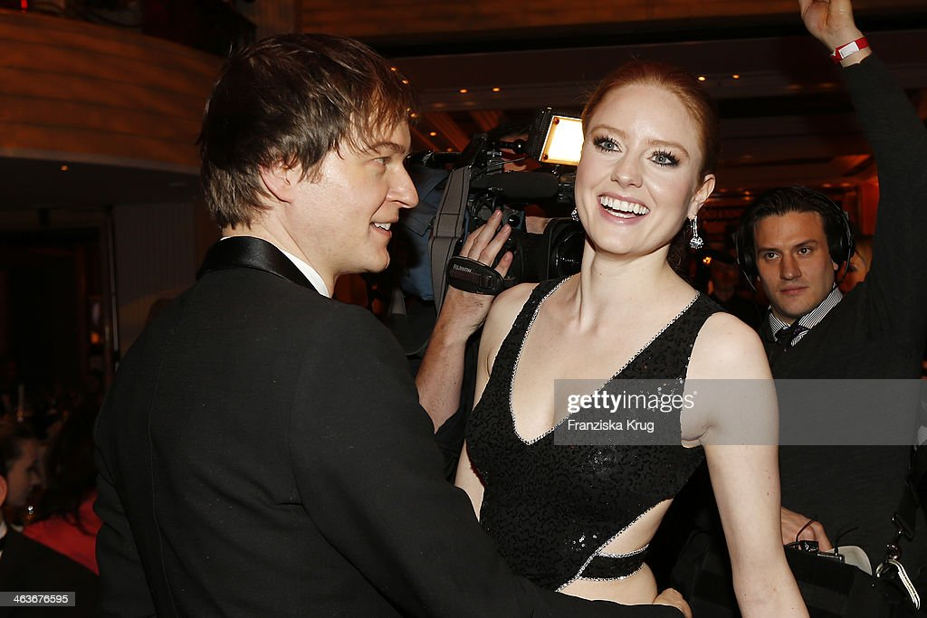 <a gi-track='captionPersonalityLinkClicked' href=/galleries/search?phrase=Barbara+Meier&family=editorial&specificpeople=4304499 ng-click='$event.stopPropagation()'>Barbara Meier</a> and guest attend the German Film Ball 2014 (Deutscher Filmball) on January 18, 2014 in Munich, Germany.