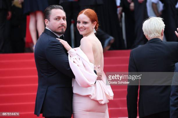 Barbara Meier and her boyfriend Klemens Hallmann attend the 70th Anniversary screening during the 70th annual Cannes Film Festival at Palais des...