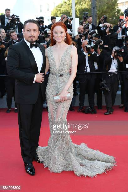 Barbara Meier and her boyfriend Klemens Hallmann attend the 'Ismael's Ghosts ' screening and Opening Gala during the 70th annual Cannes Film Festival...