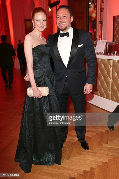 Barbara Meier and her boyfriend Klemens Hallmann during the 27th ROMY Award 2015 at Hofburg Vienna on April 16 2016 in Vienna Austria
