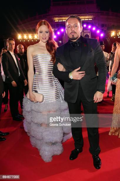Barbara Meier and her boyfriend Klemens Hallmann during the Life Ball 2017 at City Hall on June 10 2017 in Vienna Austria