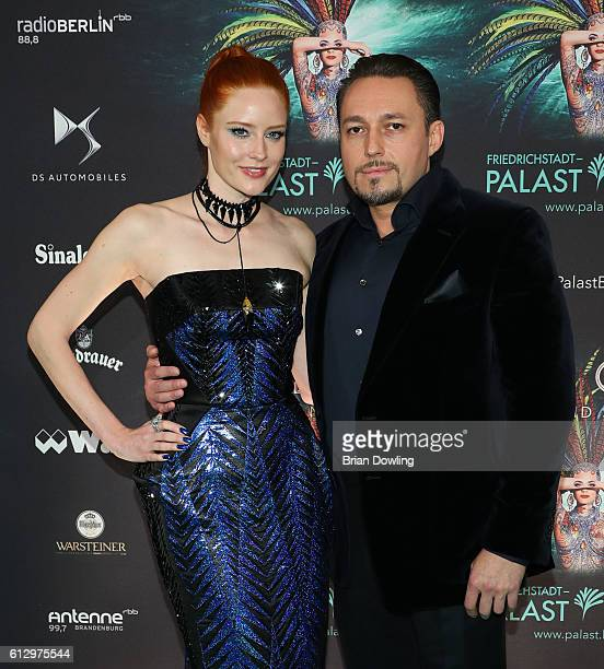 Barbara Meier and Klemens Hallmann arrives at the 'THE ONE Grand Show' premiere at FriedrichstadtPalast on October 6 2016 in Berlin Germany
