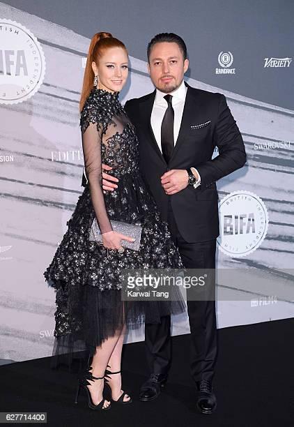 Barbara Meier and Klemens Hallmann attend at The British Independent Film Awards at Old Billingsgate Market on December 4 2016 in London England
