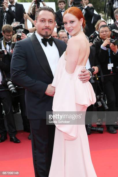 Barbara Meier and Klemens Hallmann attend the 70th Anniversary of the 70th annual Cannes Film Festival at Palais des Festivals on May 23 2017 in...