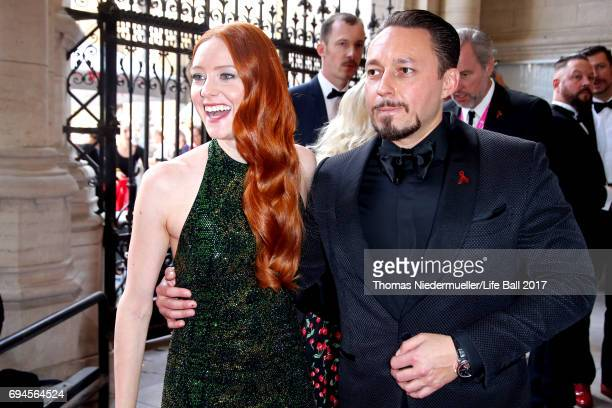 Barbara Meier and Klemens Hallmann attend the Life Ball 2017 Gala Dinner at City Hall on June 10 2017 in Vienna Austria