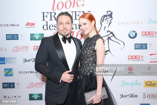 Barbara Meier and Klemens Hallmann attend the Look Women of the Year Awards at City Hall on November 30 2016 in Vienna Austria
