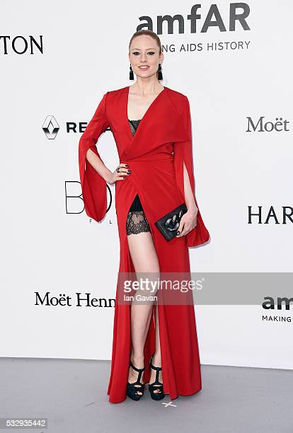 Barbara Meier arrives at amfAR's 23rd Cinema Against AIDS Gala at Hotel du CapEdenRoc on May 19 2016 in Cap d'Antibes France
