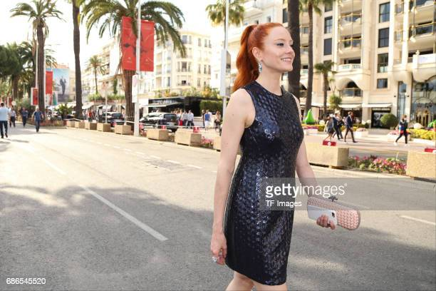 Barbara Meier attends the 70th annual Cannes Film Festival on May 18 2017 in Cannes France