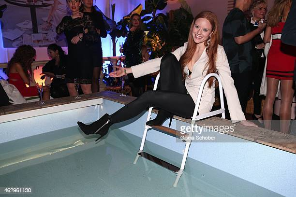 Barbara Meier attends the Bild 'Place to B' Party at Borchardt Restaurant on February 7 2015 in Berlin Germany