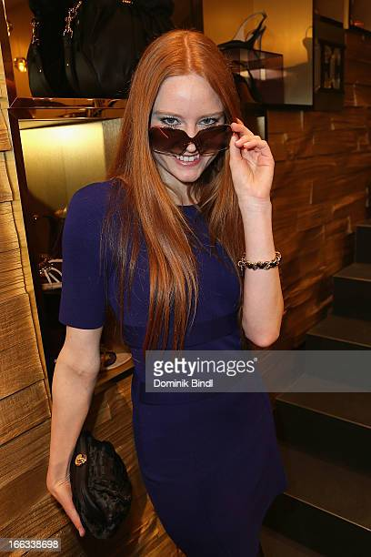 Barbara Meier attends the Escada and De Rigo Vision Eyewear Design Contest Cocktail on April 11 2013 in Munich Germany
