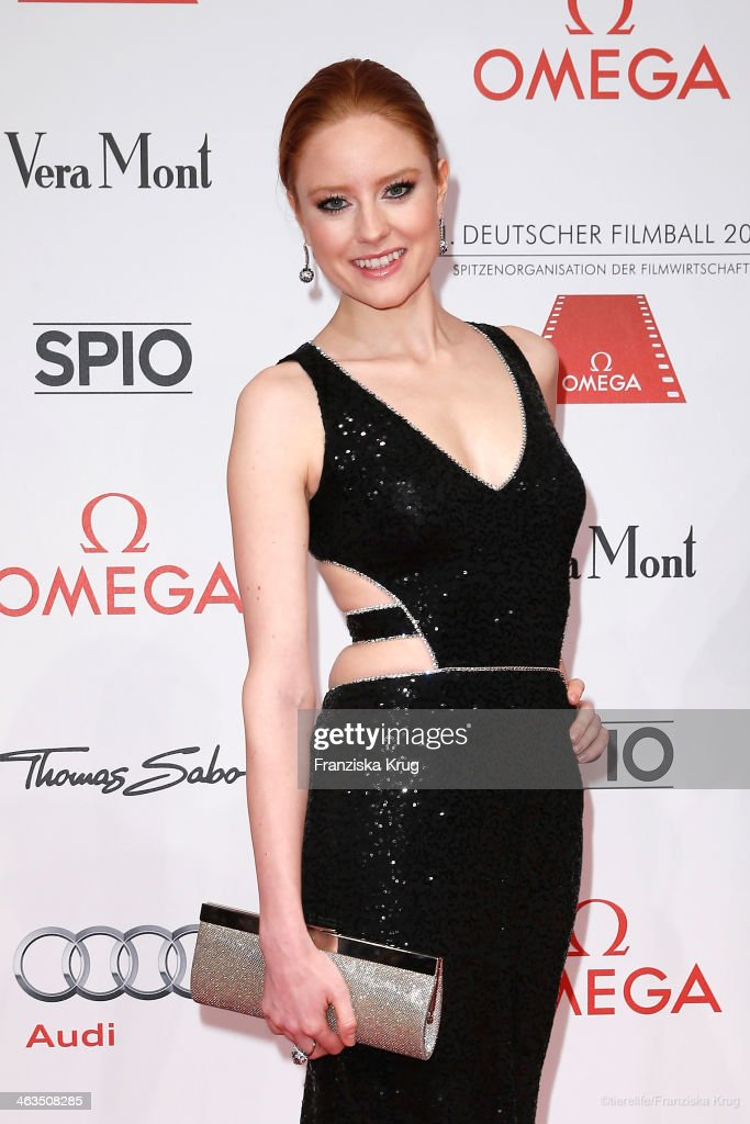 <a gi-track='captionPersonalityLinkClicked' href=/galleries/search?phrase=Barbara+Meier&family=editorial&specificpeople=4304499 ng-click='$event.stopPropagation()'>Barbara Meier</a> attends the German Film Ball 2014 (Deutscher Filmball) on January 18, 2014 in Munich, Germany.