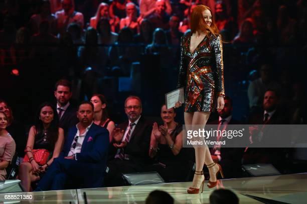 Barbara Meier attends the Germany's Next Topmodel Final at KoenigPilsenerARENA on May 25 2017 in Oberhausen Germany