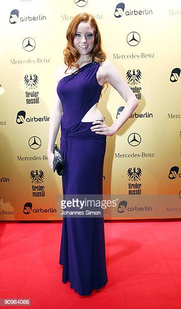 Barbara Meier attends the United People Charity Night on September 18 2009 in Munich Germany
