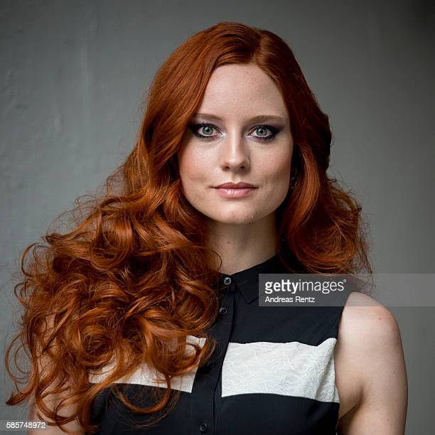 Barbara Meier poses for a portrait ahead of the Breuninger show during Platform Fashion July 2016 at Areal Boehler on July 22 2016 in Duesseldorf...