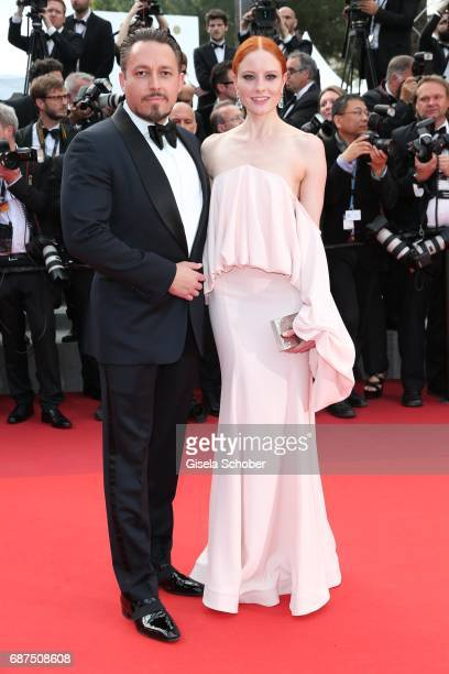 Barbara Meier wearing earings by Thomas Jirgens Juwelenschmiede Klemens Hallman during the 70th Anniversary screening during the 70th annual Cannes...