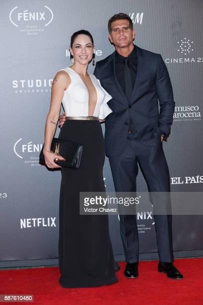 Barbara Mori and Christian Meier attend the Premio Iberoamericano De Cine Fenix 2017 at Teatro de La Ciudad on December 6 2017 in Mexico City Mexico