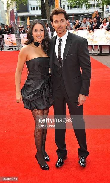 Barbara Mori and Hrithik Roshan attends the European Premiere of 'Kites' at Odeon West End on May 18 2010 in London England