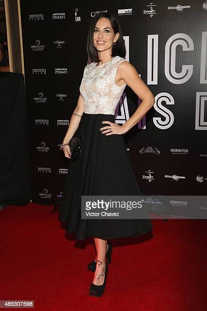 Barbara Mori attends the 'Alicia En El Pais De Maria' Mexico City premiere red carpet at Cinepolis Plaza Carso on August 26 2015 in Mexico City Mexico