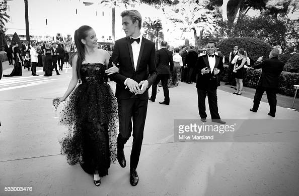 Barbara Palvin and Lucky Blue Smith attend the amfAR's 23rd Cinema Against AIDS Gala at Hotel du CapEdenRoc on May 19 2016 in Cap d'Antibes France