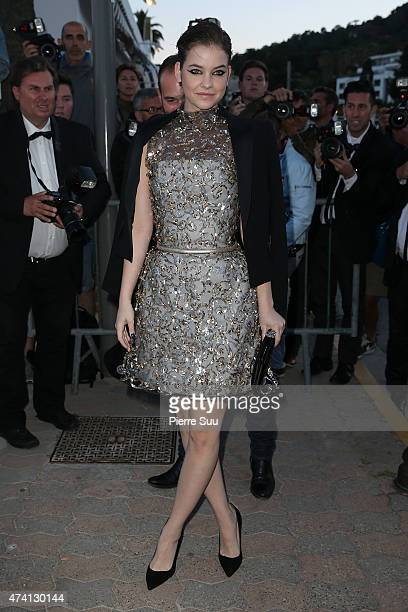 Barbara Palvin arrives at the Chanel and Vanity Fair party during the 68th annual Cannes Film Festival on May 20 2015 in Cannes France