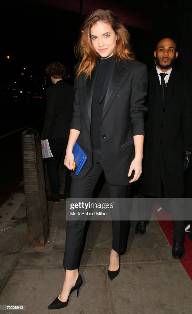 Barbara Palvin attending the Elle Style Awards ceremony at One Embankment on February 18 2014 in London England