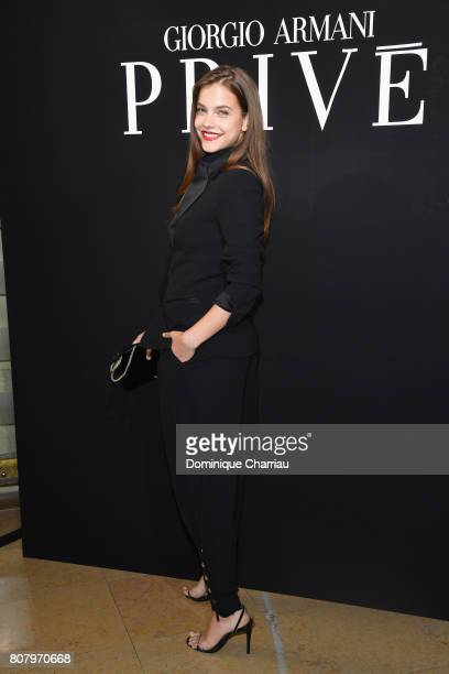 Barbara Palvin attends the Giorgio Armani Prive Haute Couture Fall/Winter 20172018 show as part of Haute Couture Paris Fashion Week on July 4 2017 in...