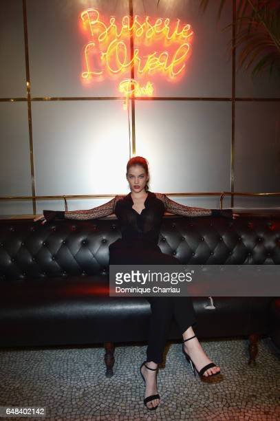 Barbara Palvin attends the 'L'Oreal Paris Dinner Hosted By Julianne Moore' as part of the Paris Fashion Week Womenswear Fall/Winter 2017/2018 on...